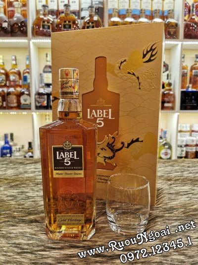 Rượu Label 5 Gold - Hộp Quà