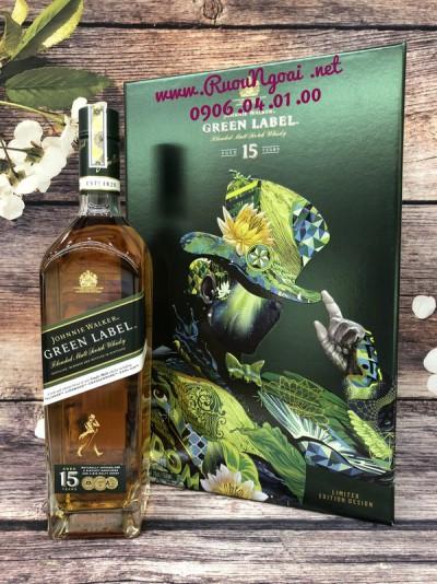 Rượu JW Green Label 15YO - Hộp Quà 2019