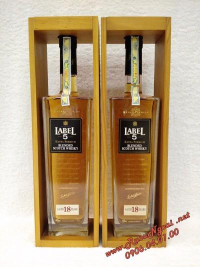 Rượu Whisky Label 5 18YO Hộp Gỗ