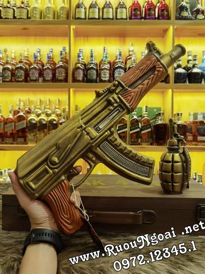 Rượu Brandy XO Súng Ak47 Gold