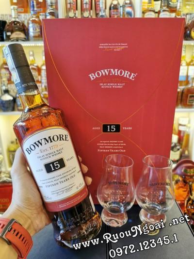 Rượu Bowmore 15YO - Hộp Quà